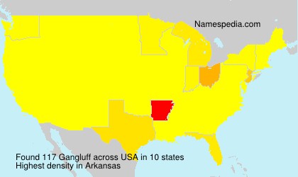 Surname Gangluff in USA