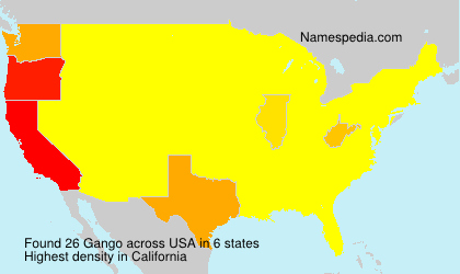 Surname Gango in USA