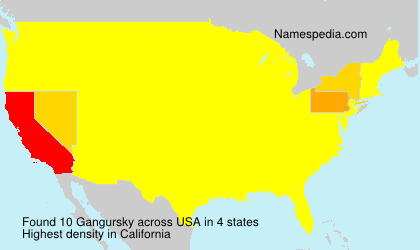 Surname Gangursky in USA