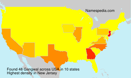 Surname Gangwal in USA
