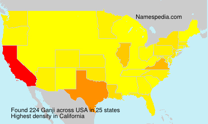 Surname Ganji in USA