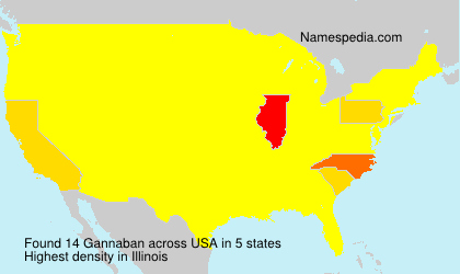 Surname Gannaban in USA