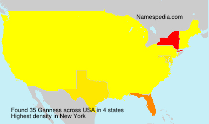 Surname Ganness in USA