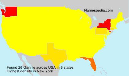 Surname Gannie in USA