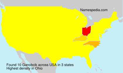 Surname Ganobcik in USA