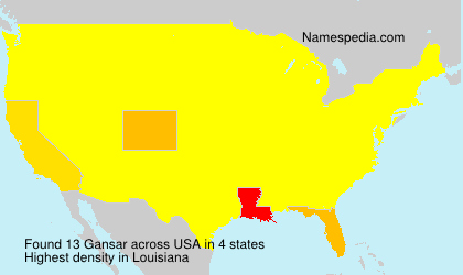 Surname Gansar in USA