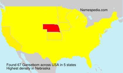 Surname Gansebom in USA