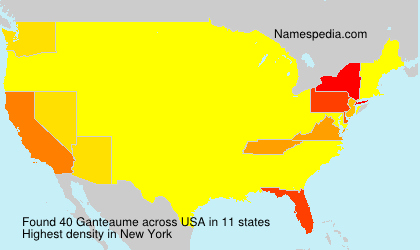 Surname Ganteaume in USA