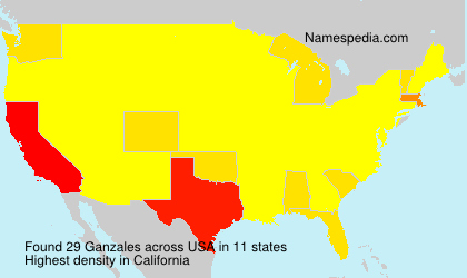 Surname Ganzales in USA