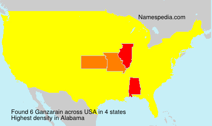 Surname Ganzarain in USA
