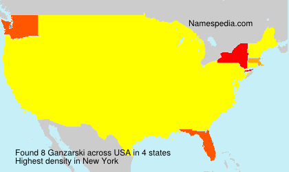 Surname Ganzarski in USA