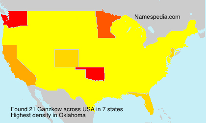 Surname Ganzkow in USA