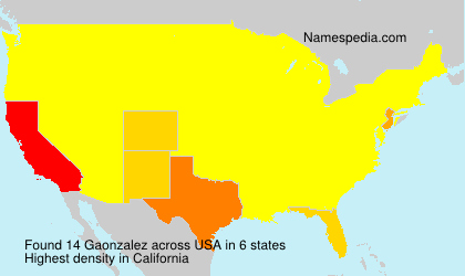 Surname Gaonzalez in USA