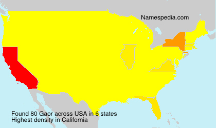 Surname Gaor in USA