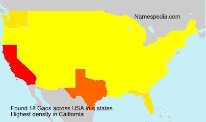 Surname Gaos in USA
