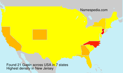 Surname Gapin in USA