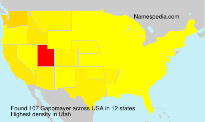 Surname Gappmayer in USA