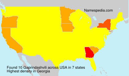 Surname Gaprindashvili in USA