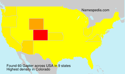 Surname Gapter in USA
