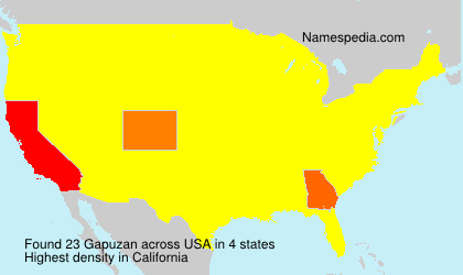 Surname Gapuzan in USA
