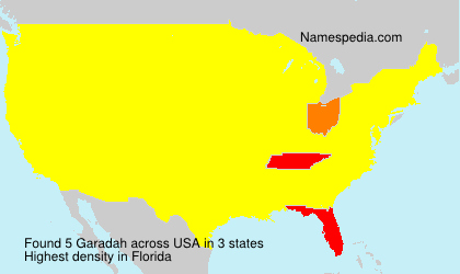 Surname Garadah in USA