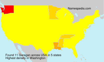 Surname Garagan in USA