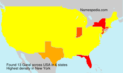 Surname Garal in USA
