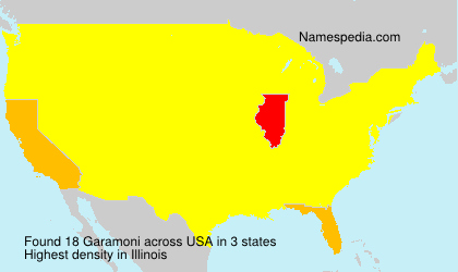 Surname Garamoni in USA