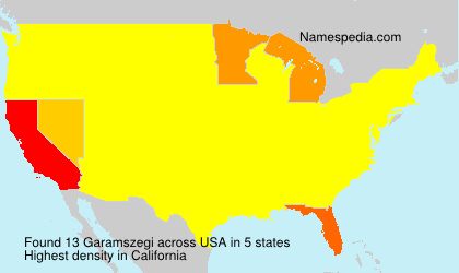 Surname Garamszegi in USA