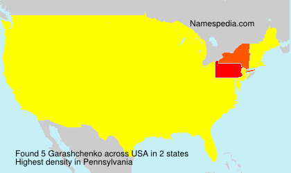 Surname Garashchenko in USA