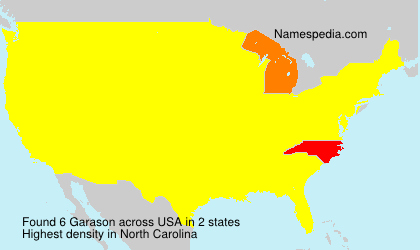 Surname Garason in USA