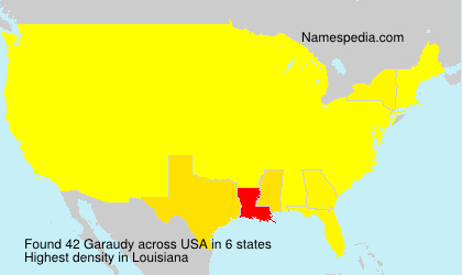 Surname Garaudy in USA