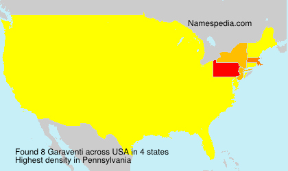 Surname Garaventi in USA