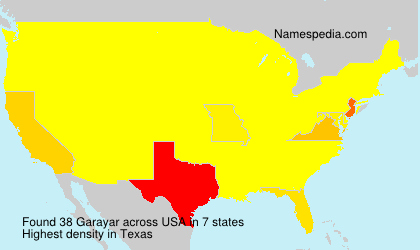 Surname Garayar in USA