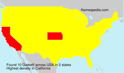 Surname Garbeff in USA