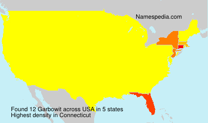 Surname Garbowit in USA