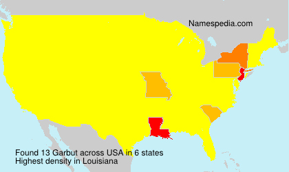 Surname Garbut in USA