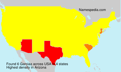 Surname Garciaa in USA
