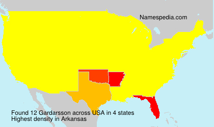Surname Gardarsson in USA