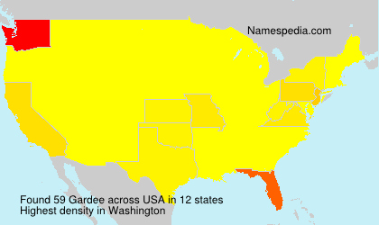 Surname Gardee in USA