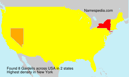Surname Gardelis in USA