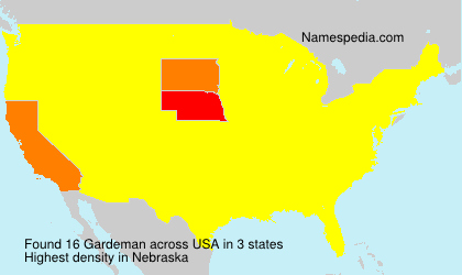 Surname Gardeman in USA