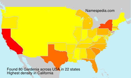Surname Gardenia in USA