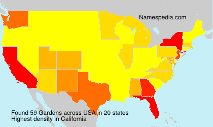 Surname Gardens in USA