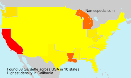Surname Gardette in USA