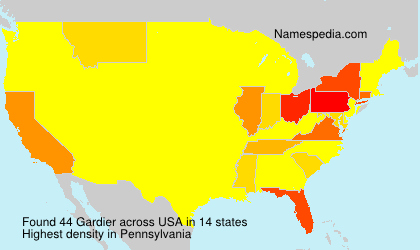 Surname Gardier in USA