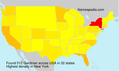 Surname Gardinier in USA