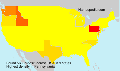 Surname Gardoski in USA