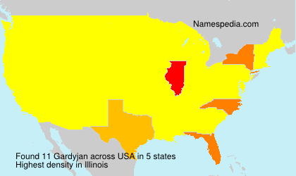 Surname Gardyjan in USA