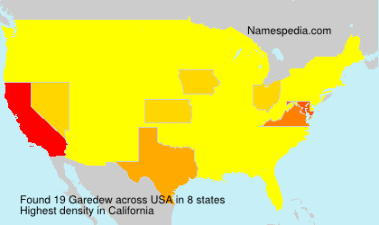 Surname Garedew in USA